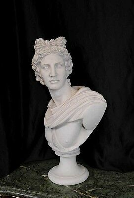 Italian Carved Bust Apollo Faux Marble Interiors 6
