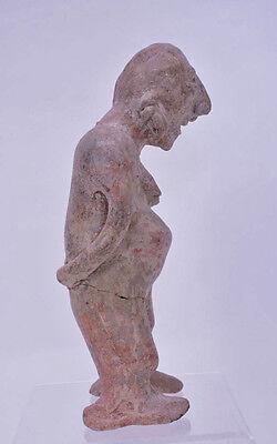 "Large Fine Pre-Columbian Pottery Figure  9 1/2"" x 5"" x 3"" 3"