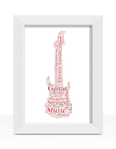 musician teenagers him retirement word art presents for men thank you birthday Personalised word art guitar print \u2013 guitarist