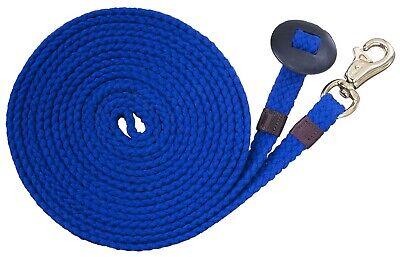 White /& Blue Colors Black NEW 20 Foot Cotton Horse Lunge Line