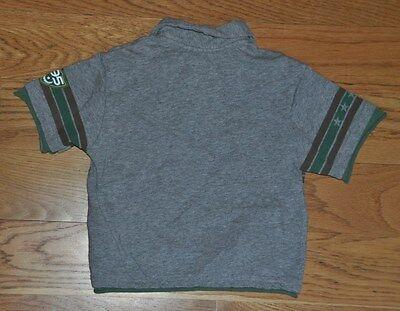 DISNEY Buzz Lightyear Baby Boy Gray Short Sleeve Polo Collared Shirt XXS 2/3 EUC 3