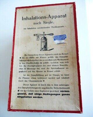 Museales antikes Inhaliergerät,Inhalier-Apparat nach Siegle,ca.1875-1890,selten 9