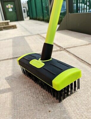 Telescopic Weed Brush Wire Broom Head Patio Deck Scrub Block Paving Moss Removal 3