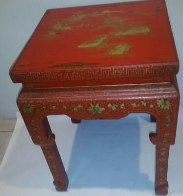 Antique Chinese Ming Dynasty Painted End Table 1800-1849 2