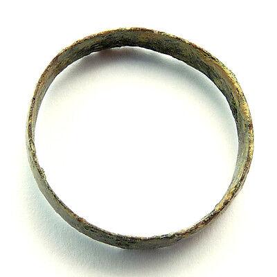 Beautiful Fine Roman Copper Ring Old Antique 2
