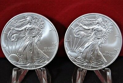 2008 Silver American Eagle BU 1 oz US $1 Dollar U.S. Mint Brilliant Uncirculated 9