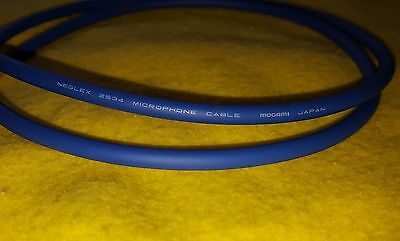 10 ft Mogami Neglex 2534 Balanced Microphone Cable Bulk Unterminated 10/' Blue