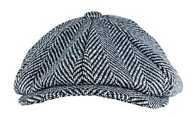 f279b3a9cd330 ... Homme Hiver Anglaise Vintage Traditionnelle Laine Casquette Plate  Gavroche 4