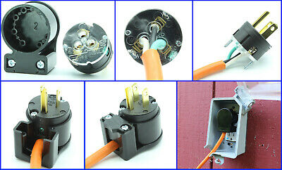 15A 125V Straight Blade Male Plug Replacement Extension Cord Repair 515PV 5-15P
