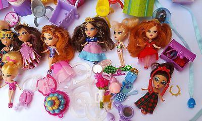 Barbie Peekaboo Petites Mini Dolls Locket Place Play Set Huge Lot