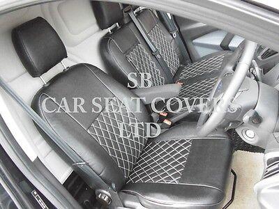 To Fit A Ford Transit Custom Van, Seat Covers, Rhd, Rossini Black Diamond 7