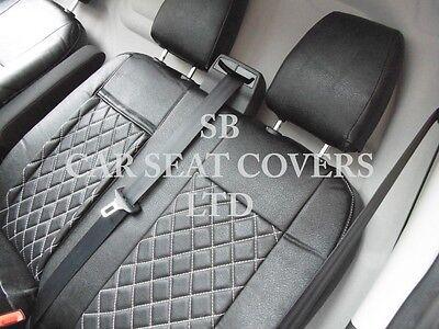 To Fit A Ford Transit Custom Van, Seat Covers, Rhd, Rossini Black Diamond 6