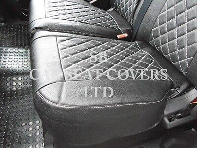 To Fit A Ford Transit Custom Van, Seat Covers, Rhd, Rossini Black Diamond 4