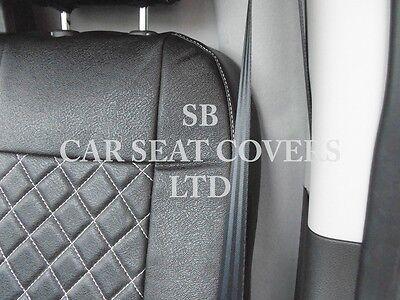 To Fit A Ford Transit Custom Van, Seat Covers, Rhd, Rossini Black Diamond 5