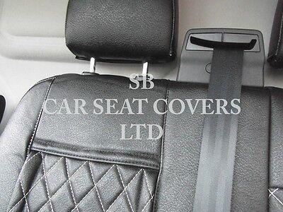 To Fit A Ford Transit Custom Van, Seat Covers, Rhd, Rossini Black Diamond 2