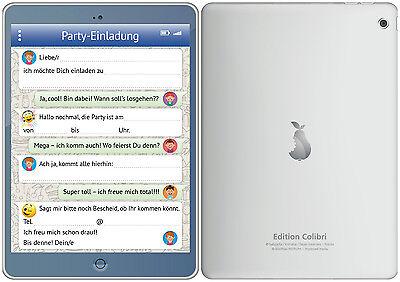 Lustige Tablet-Einladungskarten Kindergeburtstag, Geburtstagseinladungen Kinder 3