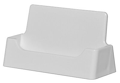 1 of 2 white plastic business card holder display stand desk top made in the usa - Plastic Business Card Holders