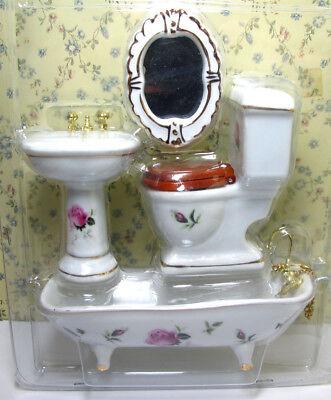 1/12 Dolls House Miniature Bedroom Kitchen Living Room Furniture Set Bed Cabinet 7