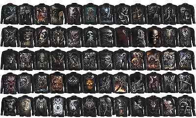 Spiral REAPER BATS Long Sleeve Tee  //Biker//Skull//Metal//Horror//Goth//