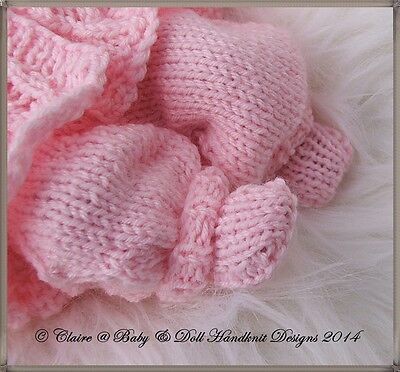 adf472f3a BABYDOLL HANDKNIT DESIGNS Knitting Pattern Cosy Lacy Pram Set For 7 ...