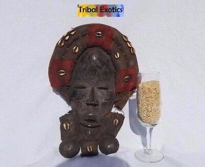 EXTRAVAGANT Dan Gioh Ceremonial Mask Figure Sculpture Statue Fine African Art 3