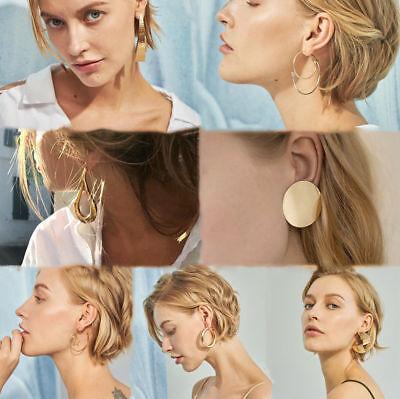 Fashion Women Metal Geometric Pendant Dangle Drop Statement Earrings Jewelry 12