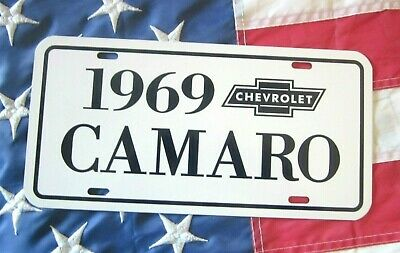 1969 Chevrolet Camaro Rally Sport  license plate car tag 69 RS Chevy Big Block