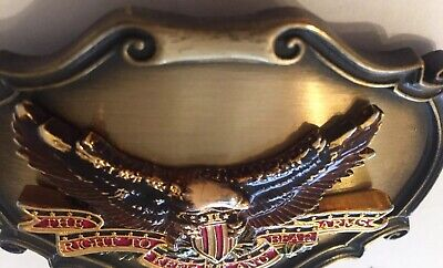 Second Amendment Vintage Belt Buckle American Eagle 2