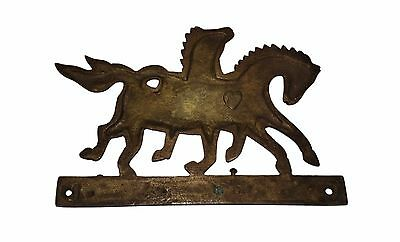 An Old & Lovely Brass made Unique RUNNING HORSES Coat Hook KEY HANGER from India 6