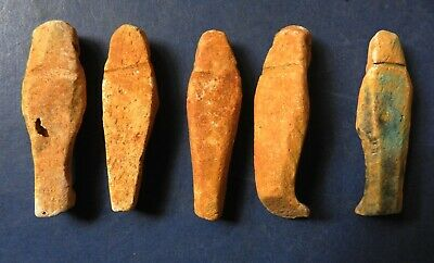 Collection Of Five Ancient Egyptian Miniature Shabti 2