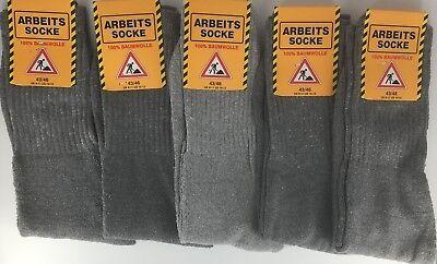 5-10-15  Arbeitssocken Workersocks 100% Baumwolle Socken schwarz,anthrazit,mix