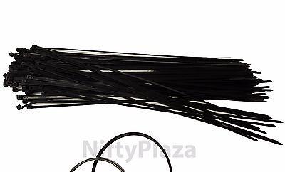 NiftyPlaza 14 Inch Cable Ties - Heavy Duty - 50 LBS 100 Pack Nylon Wrap Zip Ties 4