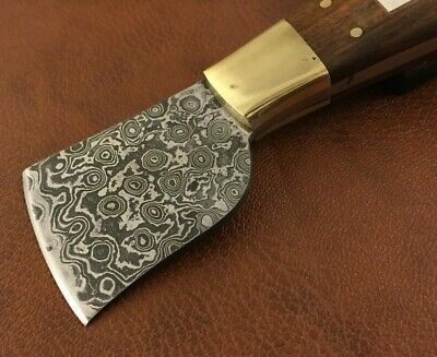 Handmade Damascus Steel Saddlers-Leather Cutter-Edge Skiving Tool-QD34 9
