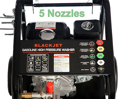 New Black Jet 8 Hp 4600 Psi  High  Pressure Water Washer Cleaner Gurney  20 M