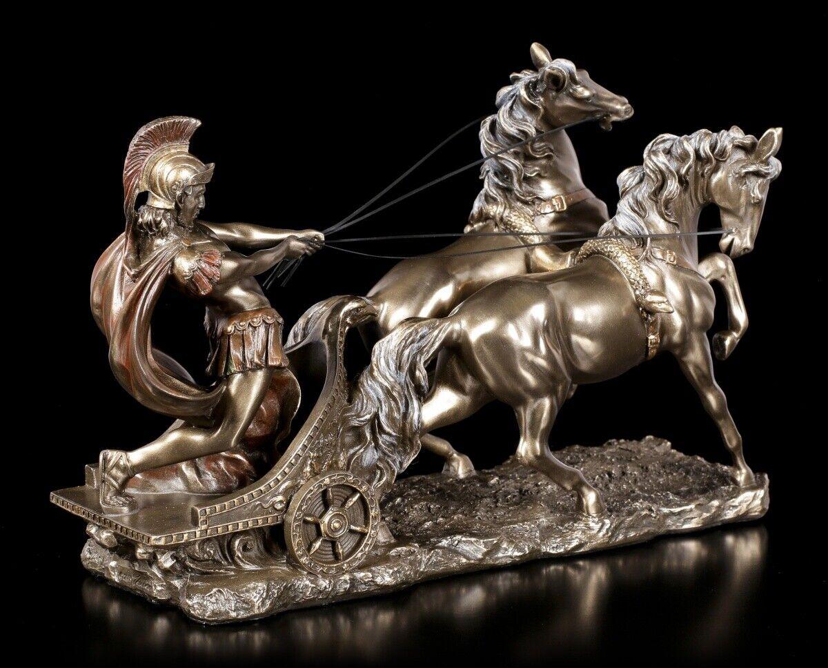 Römer im Streitwagen bronziert Figur Skulptur Römisches Reich Rom