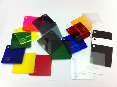 Acrylic CAST Sheet UV Stabled Full Range Solid Coloured Gloss 3MM PERSPEX 2