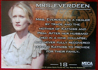 1x #018 Mrs Everdeen The Hunger Games Movie Trading Card