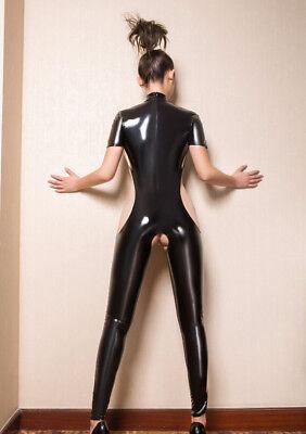 Completo Tuta Mistress Cavallo Aperto Latex Seno Scoperto Clubwear Dominatrice 12