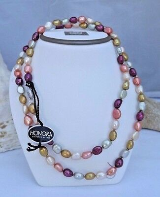 """GORGEOUS  HONORA  8-9mm SUNRISE BAROQUE  PEARL NECKLACE NEW  36/"""""""