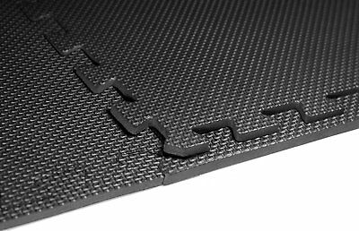 Black Interlocking Eva Soft Foam Exercise Floor Mats Gym Garage House Office Mat 3