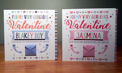 Special Valentine's Day surprise reveal card Personalised Valentine cards 6