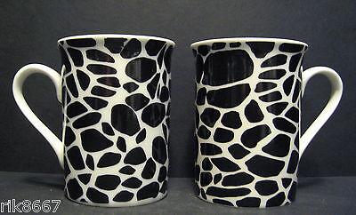 A Set Of Six 6 Data Animal Prints Panama Fine Bone China Mugs Cups To Clear 2