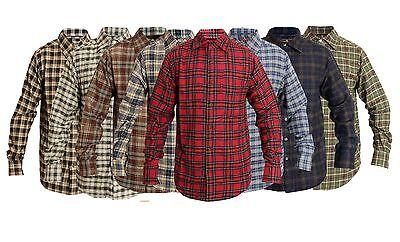 Uomo Plaid Flanella Lumberjack Scozzese Camicia a Quadri Cotone Spazzolato Top 3