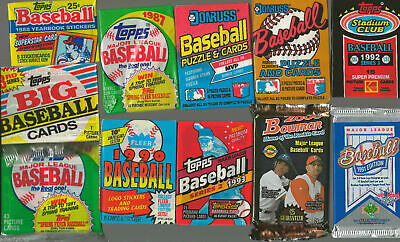 HUGE Lot of 100 Unopened Old Vintage Baseball Cards in Wax Cello Rack Packs 4