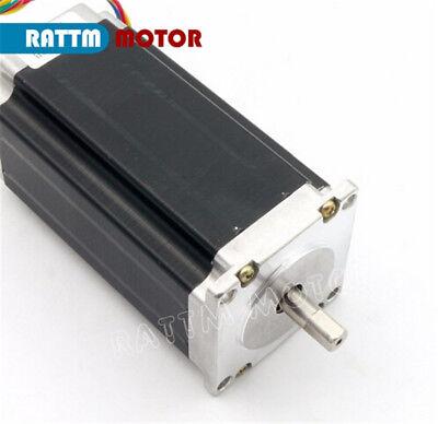 EU┃  3- Nema23 Dual shaft 425oz.in Stepper Motor 112mm 3A for CNC Router Milling 4