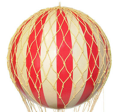 "Red & White Striped Hot Air Balloon Model 13"" Hanging Aircraft Ceiling Decor New"