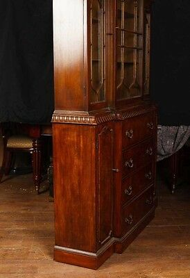 Victorian Gothic Breakfront Bookcase Mahogany Bookcases Chippendale 12