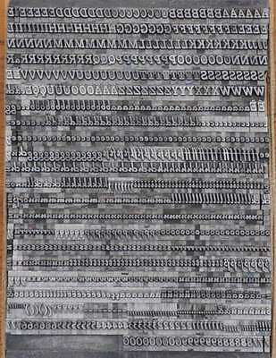 Bleischrift 7,5mm Bleisatz Buchdruck Handsatz Lettern Alphabet Letter Druck Blei