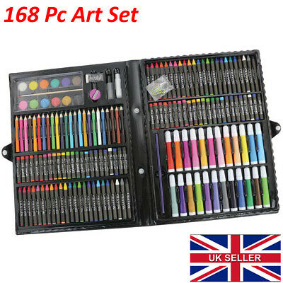 NEW 168pc Art Set with Crayons Pastels Markers Pencils Paint Felt Tips with Case 2