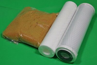 2 Pre Filters RO & 1 Ltr DI Resin Replacement for 4 Stage Reverse Osmosis 3 PCS